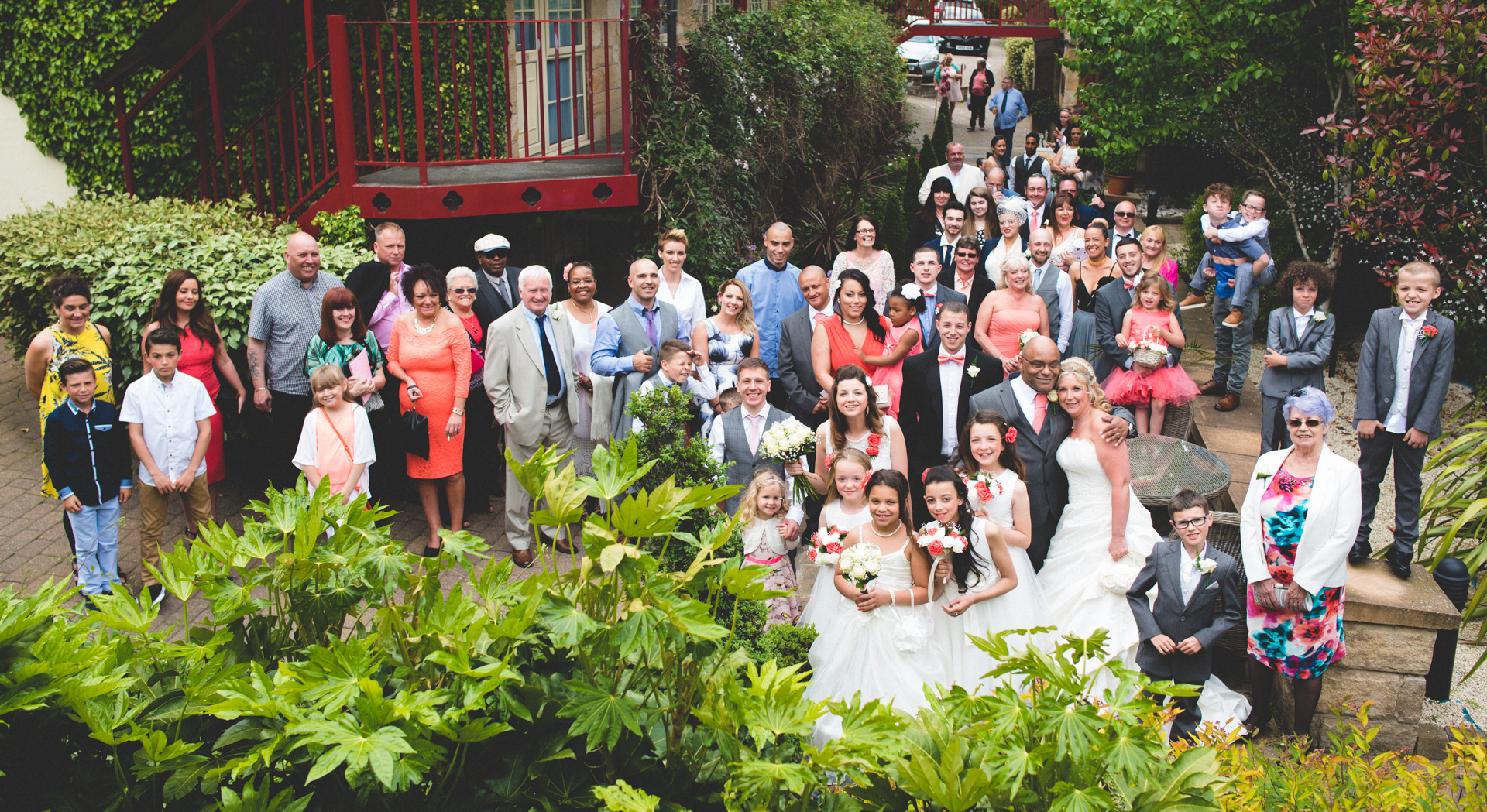 Garrison Hotel wedding group photo