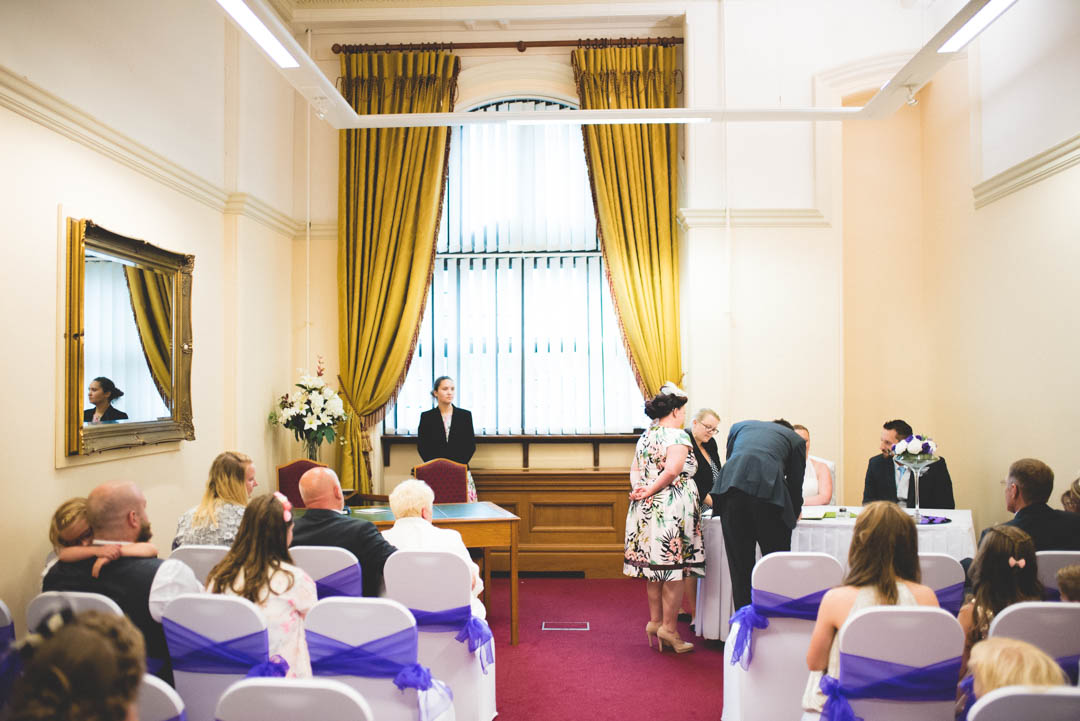 Sheffield town hall wedding ceremony