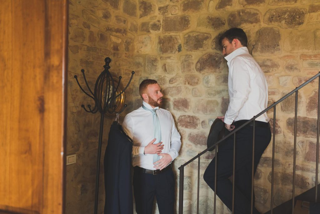 wedding groom prep photo