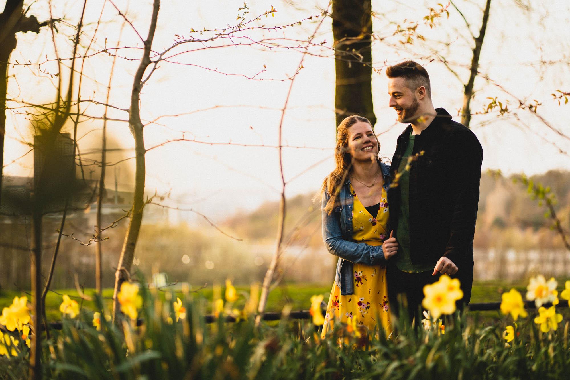 Engagement Shoot in Sheffield's Norfolk Heritage Park