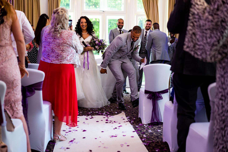 Danielle & Josh's Lively Halifax Hall Wedding