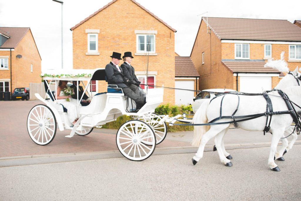 Sheffield horse and carriage wedding